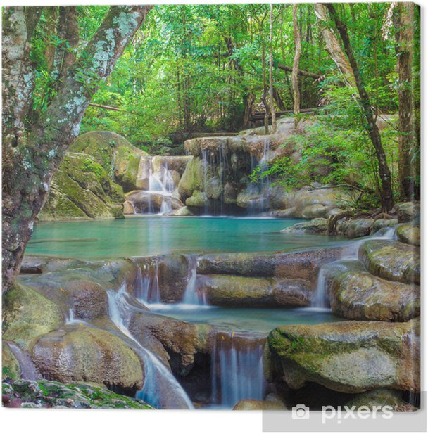 Erawan Waterfall Canvas Print - Waterfalls