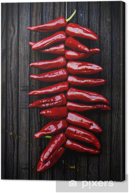 Espelette peppers Canvas Print - Spices, Herbs and Condiments