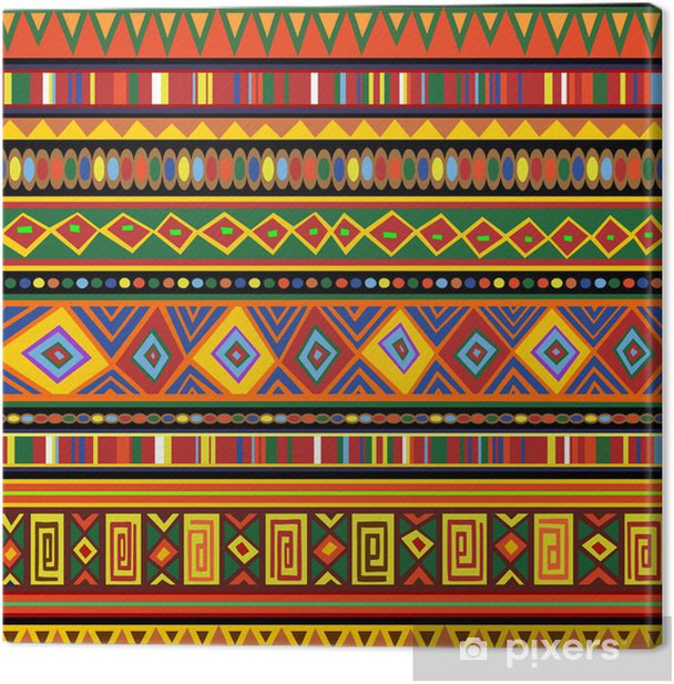 Ethnic Colorful Pattern Africa Art-Etnico Colori Arte Africa Canvas Print - Textures