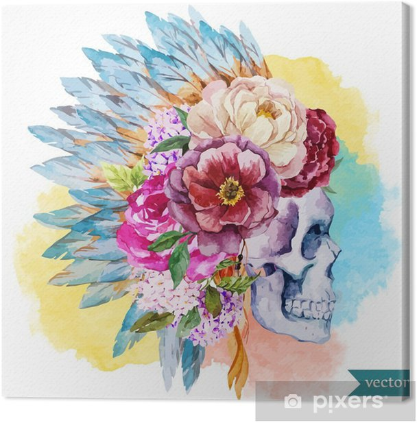 Ethnic skull Canvas Print - Hobbies and Leisure