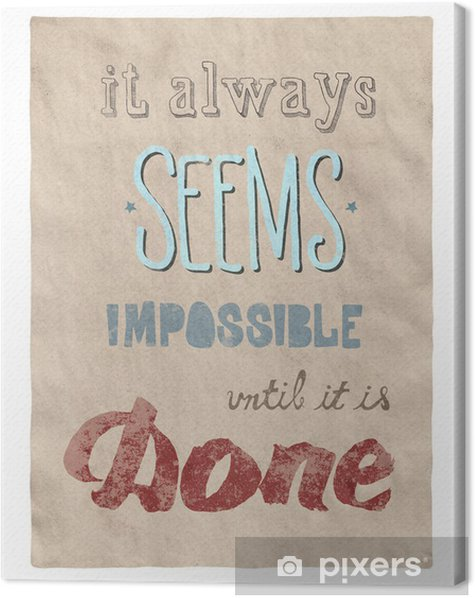 Everything is possible poster Canvas Print - Business Concepts