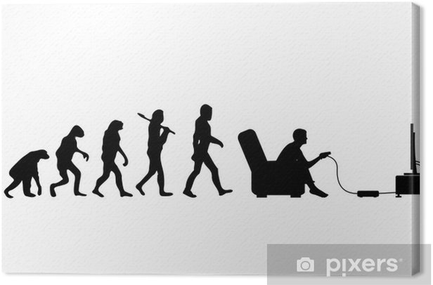 Evolution Gamer Canvas Print - Wall decals