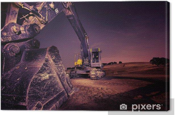 Excavator Canvas Print - Heavy Industry