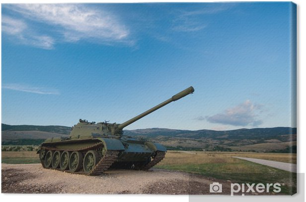exhibited a tank T-55 Canvas Print - Themes