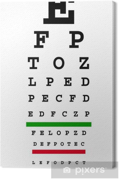 eye chart Canvas Print - Health and Medicine