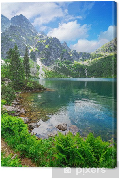 Eye of the Sea lake in Tatra mountains, Poland Canvas Print - Themes