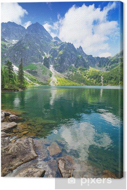 Eye of the Sea lake in Tatra mountains, Poland Canvas Print - Themes