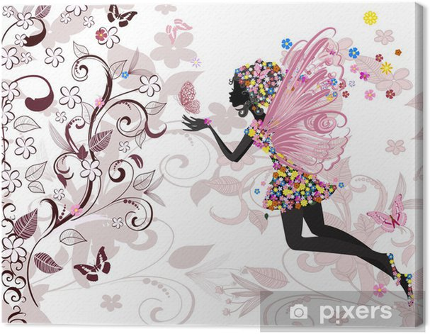 fairy pattern Canvas Print -