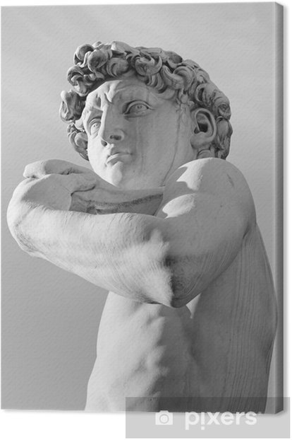 famous renaissance sculpture of David by Michelangelo, Florence, Canvas Print - Monuments