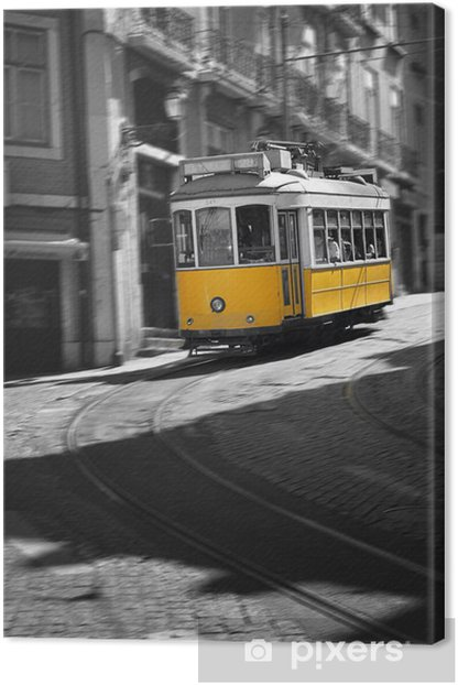 Famous Tram number 28 in Lisbon Canvas Print - European Cities