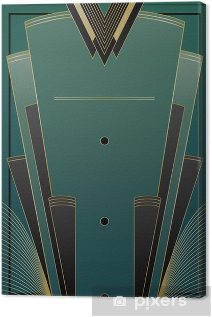Fans Art Deco Background Canvas Print - Backgrounds