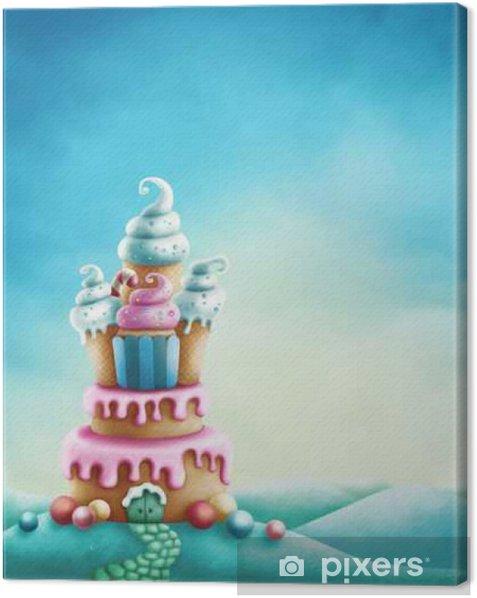 Fantasy sweet land Canvas Print - Landscapes