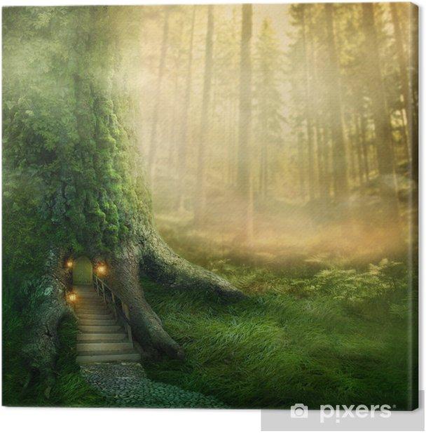 Fantasy tree house Canvas Print - Themes
