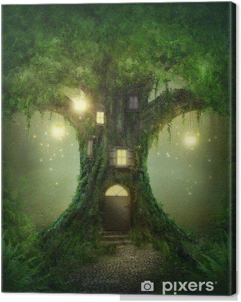 Fantasy tree house Canvas Print -