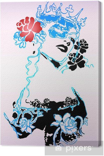 fashion female poster Canvas Print - Fashion