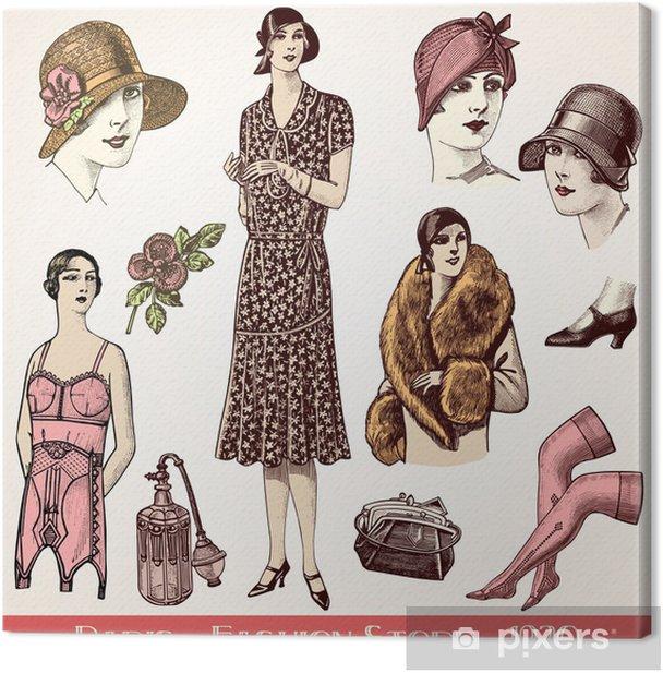 Fashion store 1930 Canvas Print - Fashion