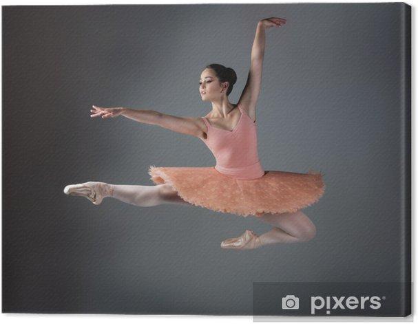 Female ballet dancer Canvas Print - Themes