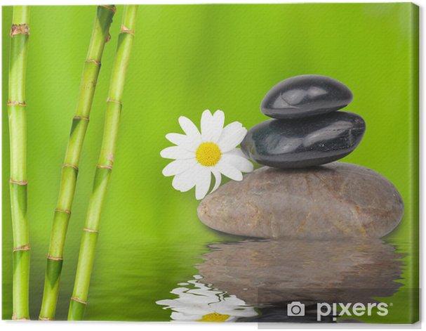 Feng Shui Mit Bambus Und Steinen Canvas Print Pixers We Live To