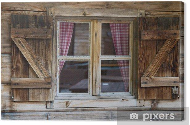Fenster einer Berghütte in Südtirol Canvas Print - Styles