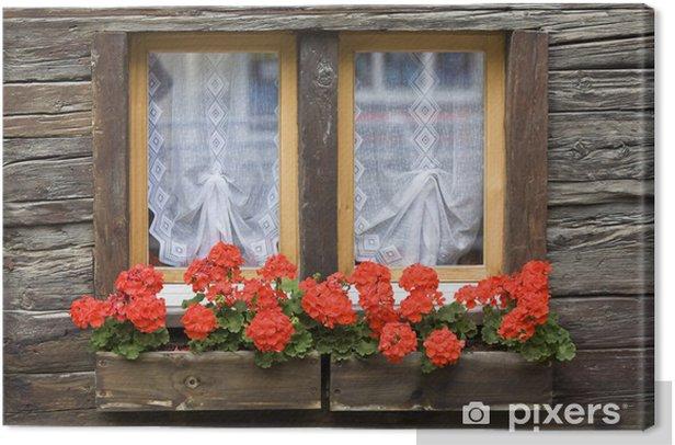 Fenster Mit Blumenkasten Canvas Print Pixers We Live To Change