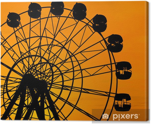 Ferris Wheel Canvas Print - Signs and Symbols