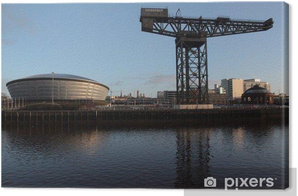 Finnieston Crane und Arena am Clydeufer in Glasgow Canvas Print - Europe
