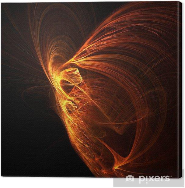 fire phoenix Canvas Print - Backgrounds