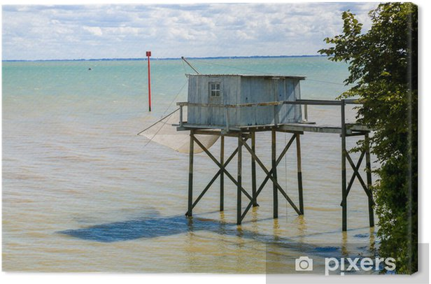 Fishing cabin and carrelet Canvas Print - Water