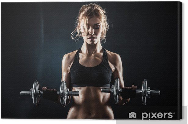 Fitness with dumbbells Canvas Print - Destinations