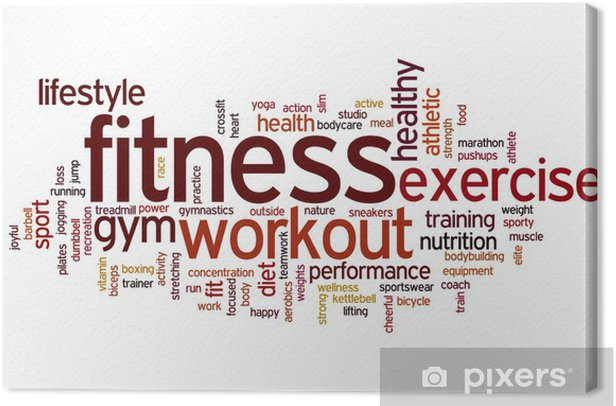 Fitness word cloud Canvas Print -