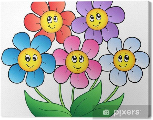 Five Cartoon Flowers Canvas Print Pixers We Live To Change