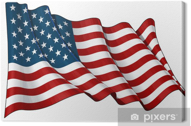Flag of USA Canvas Print - Backgrounds