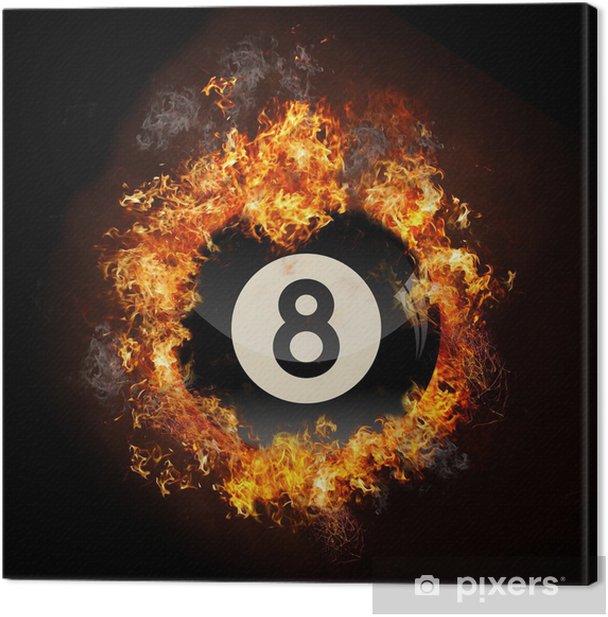 Flame 8 Ball Canvas Print - Entertainment