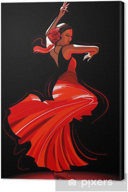 flamenco dancer Canvas Print - Themes