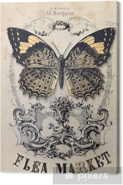 Flea market vintage background Canvas Print -