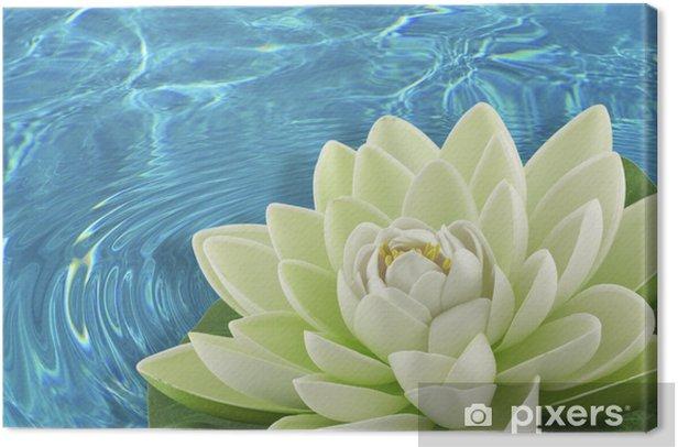 fleur artificielle nénuphar blanc Canvas Print - Flowers