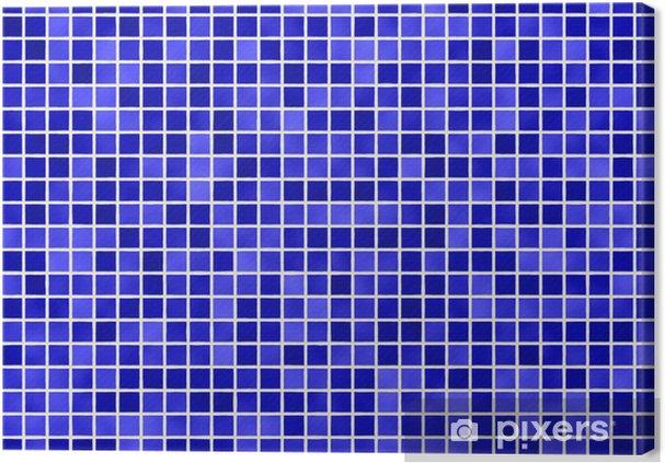 Fliesen Blau Tile Blue Canvas Print Pixers We Live To Change
