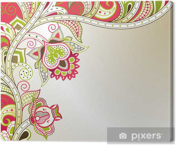 Floral Abstract Canvas Print - Backgrounds
