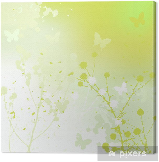 Floral background, dandelion. Meadow during summertime. Canvas Print - Wonders of Nature