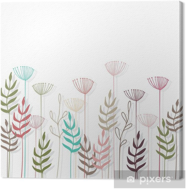 Floral background. Canvas Print - Plants and Flowers