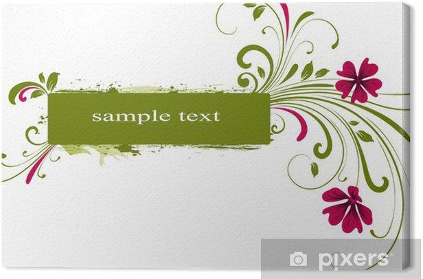 Floral frame Canvas Print - Backgrounds