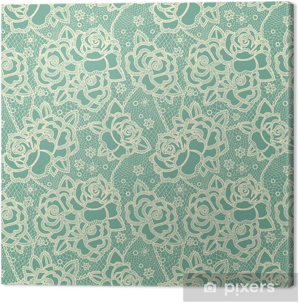 Floral seamless pattern Canvas Print - Plants and Flowers