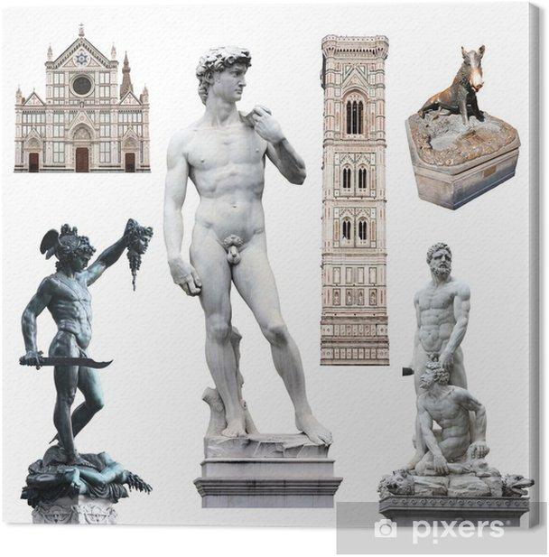 Florence - David et autres symboles Canvas Print - Europe