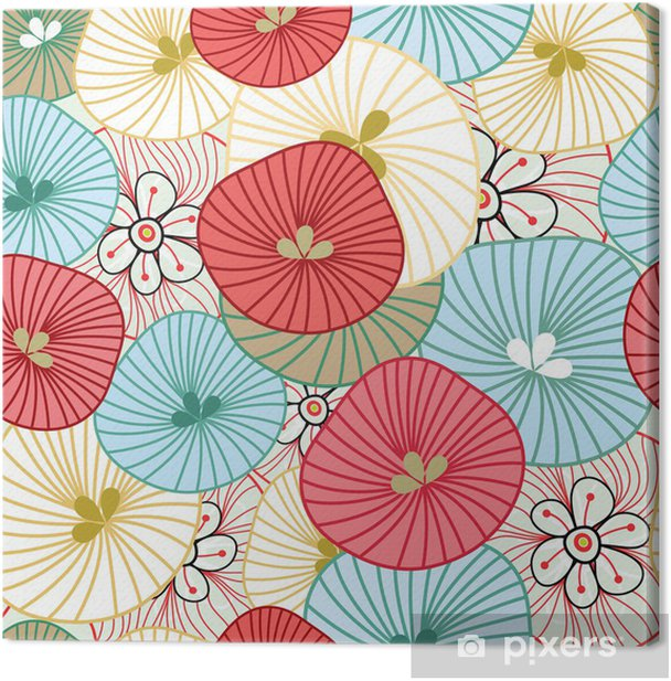 Flower background Canvas Print - Themes