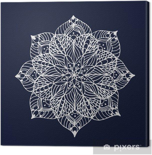Flower mandala Canvas Print - Flowers
