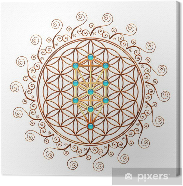 Flower of Life, Tree of Life, Kabbalah, Sephiroth Canvas Print - iStaging