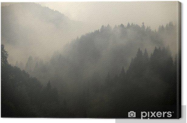Foggy forest Canvas Print - Themes