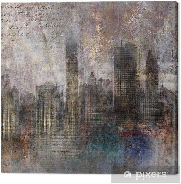 Fond ville grunge Canvas Print - Themes