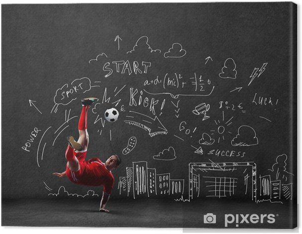 Football game Canvas Print - Men