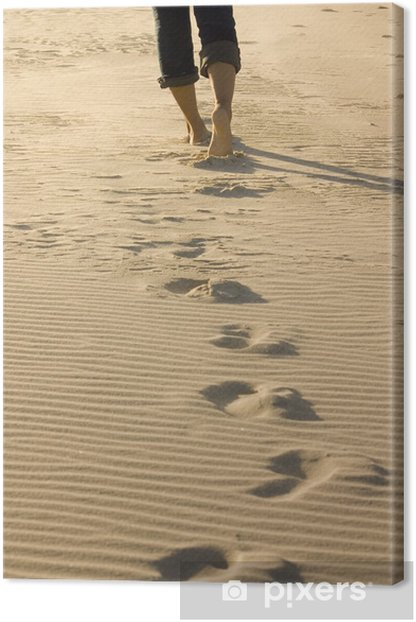 footprints Canvas Print - iStaging